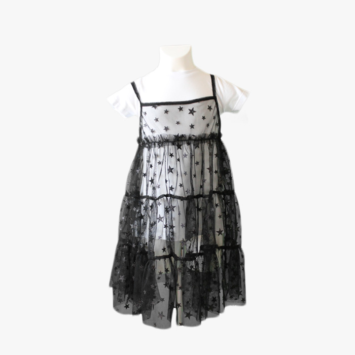 new product 080b7 848d8 Vestito tulle stelle bambina - Me and Mom